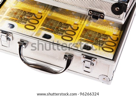 Metallic case full of Euro