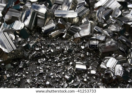 Metallic Crystals Texture - stock photo