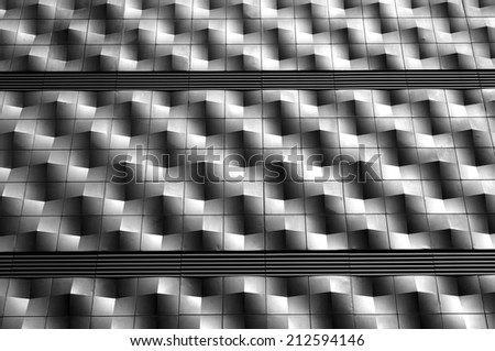 metallic facade - stock photo