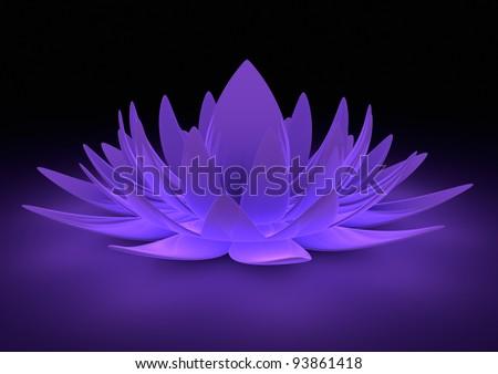 Metallic flower - stock photo