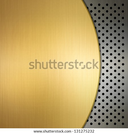 Metallic image - stock photo