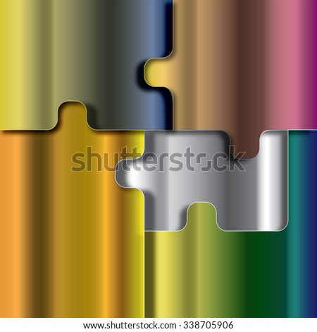 Metallic Jigsaw Puzzle - stock photo
