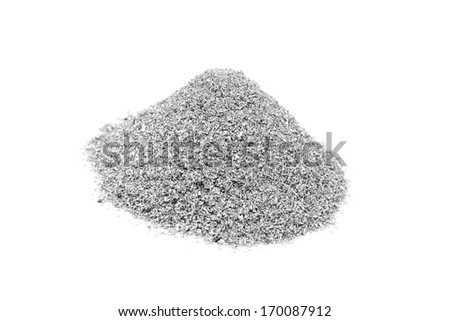 metallic magnesium pulverized on a white background