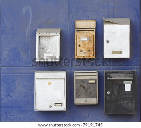 metallic mailboxes