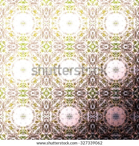 Metallic oriental pattern, folk traditional elements. Royal texture for textile, wallpapers, advertisement, page fill, book covers etc. Boho-chic fabric background - stock photo