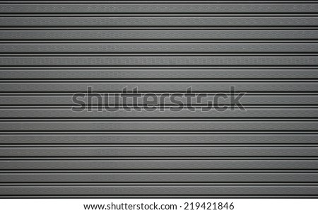 metallic roller shutter door - stock photo
