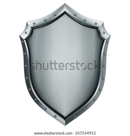 Metallic Shied - stock photo