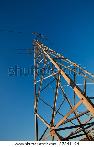 Metallic structure of transmission of electric current
