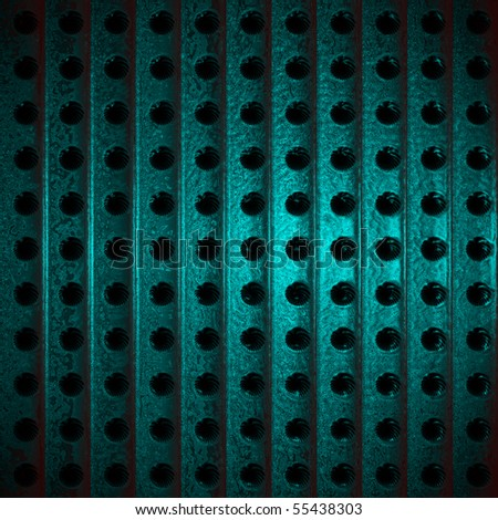 Metallic Teal Industrial Background - stock photo