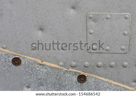 Metallic Texture with rivets - stock photo