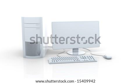 Metallic Workstation - stock photo