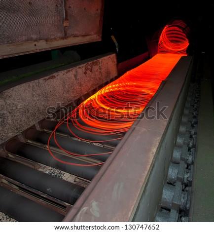 metallurgic production - stock photo