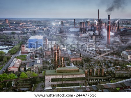 metallurgical plant - stock photo