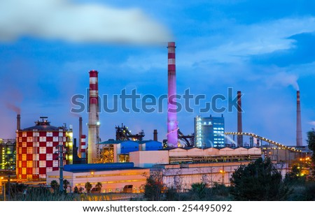 Metallurgical works - stock photo