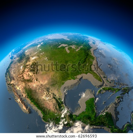 Metaphor for ecological disaster - the disappearance of water, drying up the oceans and seas - stock photo