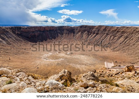 Meteor Crater, Arizona, USA - stock photo