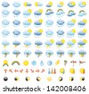 Meteorology Icons Set. Raster version, vector file also included in the portfolio. - stock vector