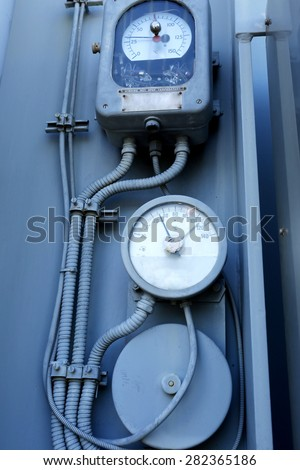 Meter : Components of the transformer - stock photo