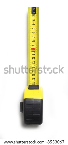 Meter isolated on white - stock photo
