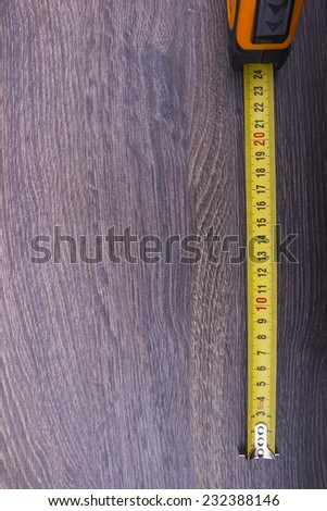 Meter on the wooden background - stock photo