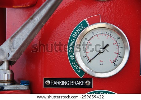Meters or gauge in crane cabin for measure Maximun load, Engine speed , Hydraulic pressure , Temperature and fuel level , Support crane driver to know the condition of crane