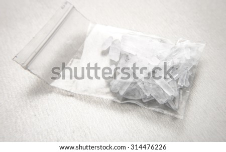 Methamphetamine also known as crystal meth - stock photo