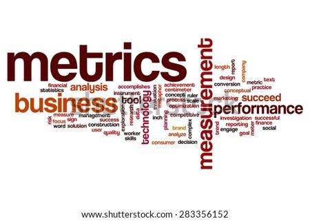Metrics word cloud - stock photo