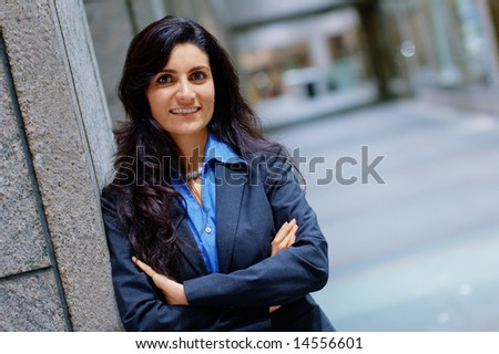 Metro Business Woman - stock photo