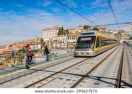 Metro in Porto, Portugal in a beautiful summer day - stock photo