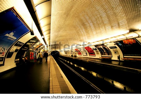 Metro, Paris - stock photo