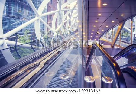 metro tunnel in the Hague - stock photo
