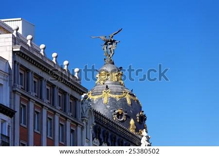 Metropolis Building, Madrid, Spain - stock photo
