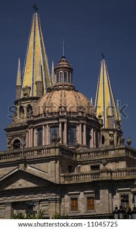 Metropolitan Cathedral, Templo de Santa Maria de Gracia, Guadalajara, Mexico - stock photo