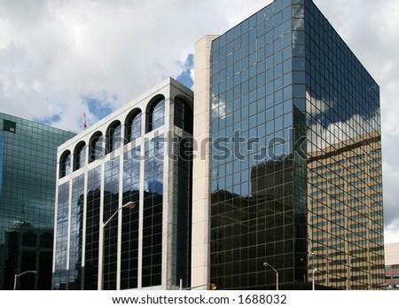 Metropolitan reflections - stock photo