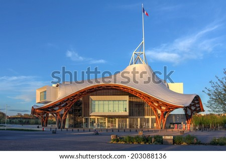 METZ, FRANCE - APRIL 6: Centre Pompidou-Metz, France on April 6, 2014. The building is a museum of modern and contemporary arts, a branch of Pompidou arts centre of Paris, build in 2010. - stock photo