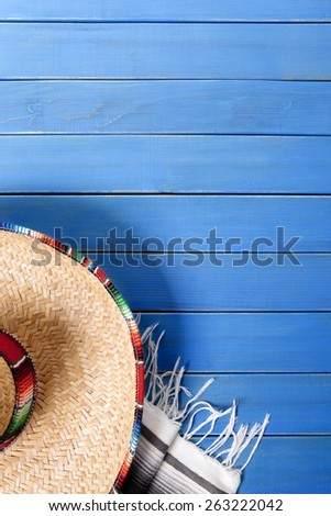 Mexican background, sombrero, vertical