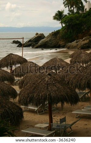 Mexican beach front - stock photo