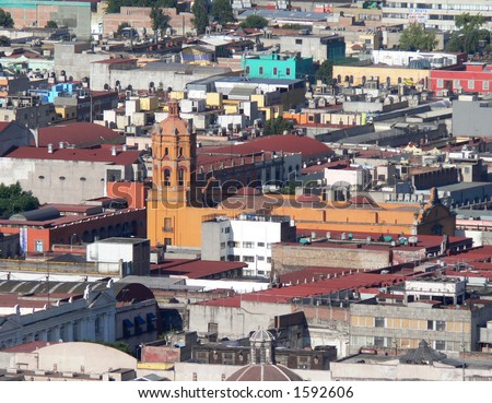 Mexican city. - stock photo
