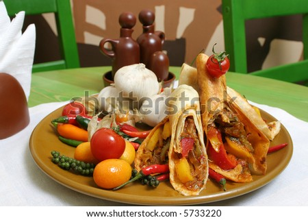 mexican hot food - stock photo