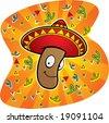 Mexican Jumping Bean - stock vector