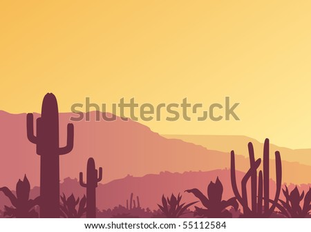 Mexican landscape. Raster image