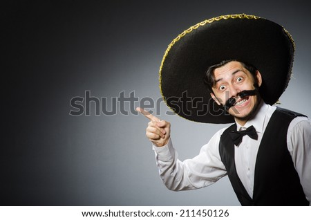 Mexican man in funny concept - stock photo