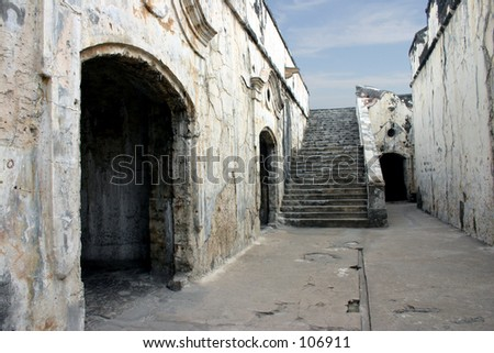 mexican prison former fort - stock photo