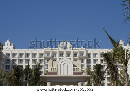 mexican resort and hotel - stock photo
