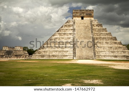Mexican ruins perfect holiday destination - stock photo