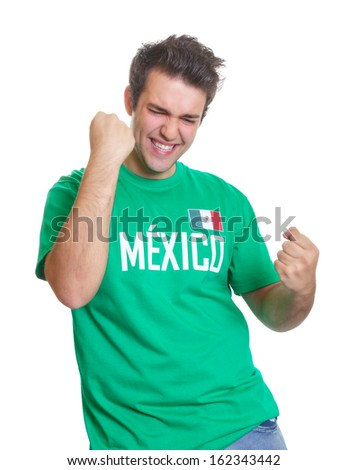 Mexican sports fan freaks out - stock photo