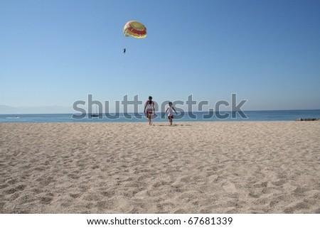 Mexico Beach Scene - stock photo