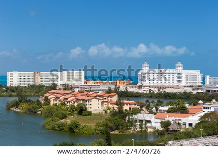 MEXICO, CANCUN - 5 MARCH 2015: ZONE HOTELERA  - stock photo