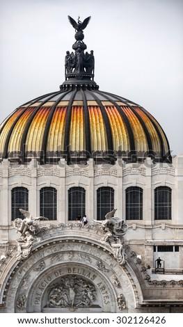 Mexico City. Bellas Artes Palace - stock photo