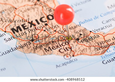 Mexico city big city of Mexico and famous landmark for travel - stock photo